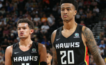 John Collins and Trae Young during Summer League