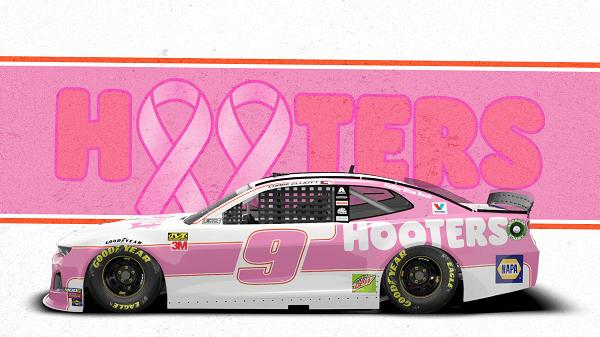 Pink Chase Elliott Car