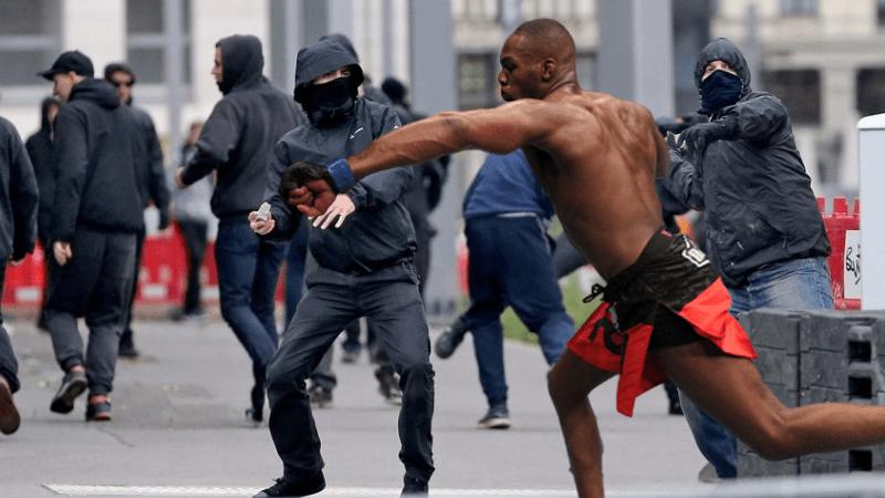 Jon Jones Stops Vandals; UFC Fighter vs. Rioters Matchup
