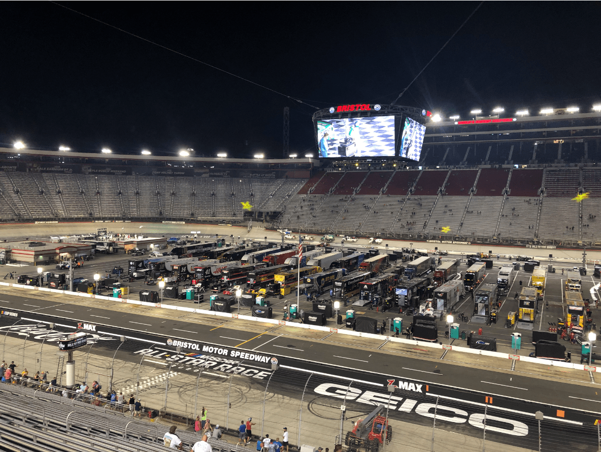 It's the All-Star Race at Bristol Baby!