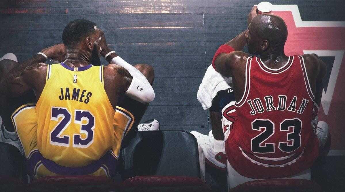 Michael Jordan and LeBron James