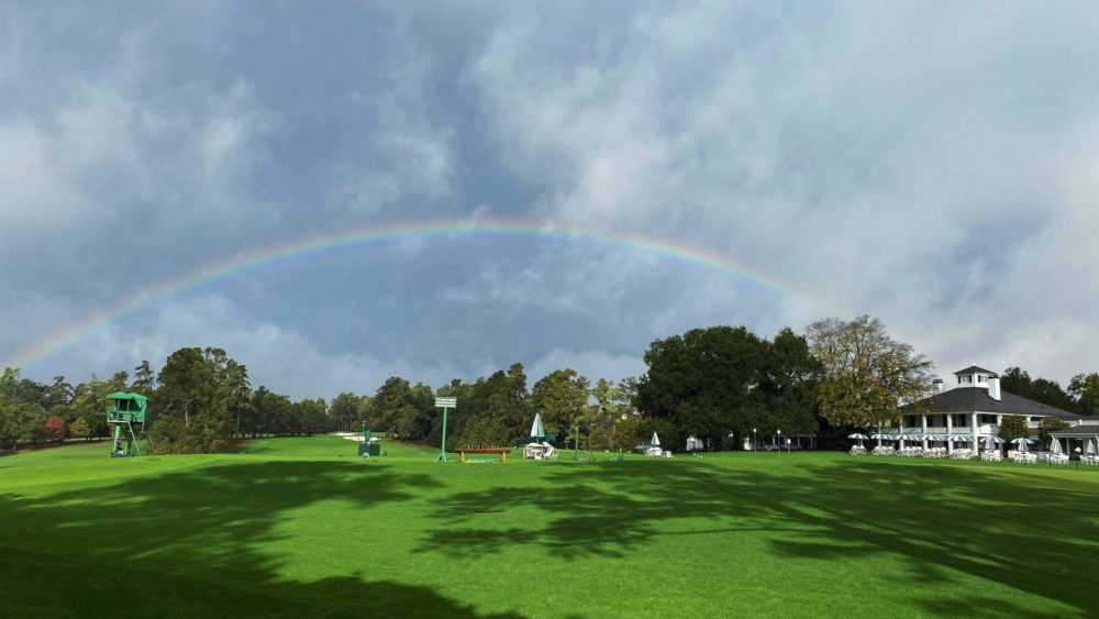 Augusta National after rain