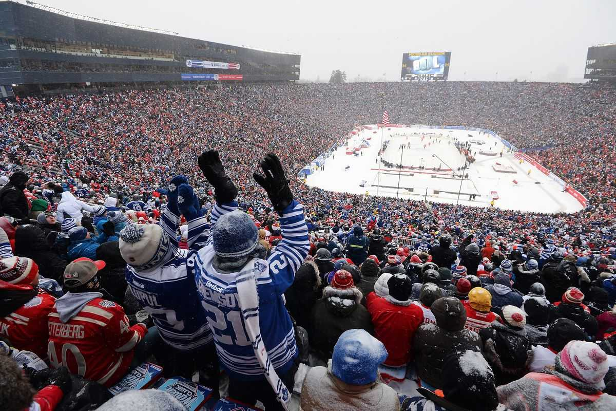 The 2014 'Winter Classic' played at the 'Big House'