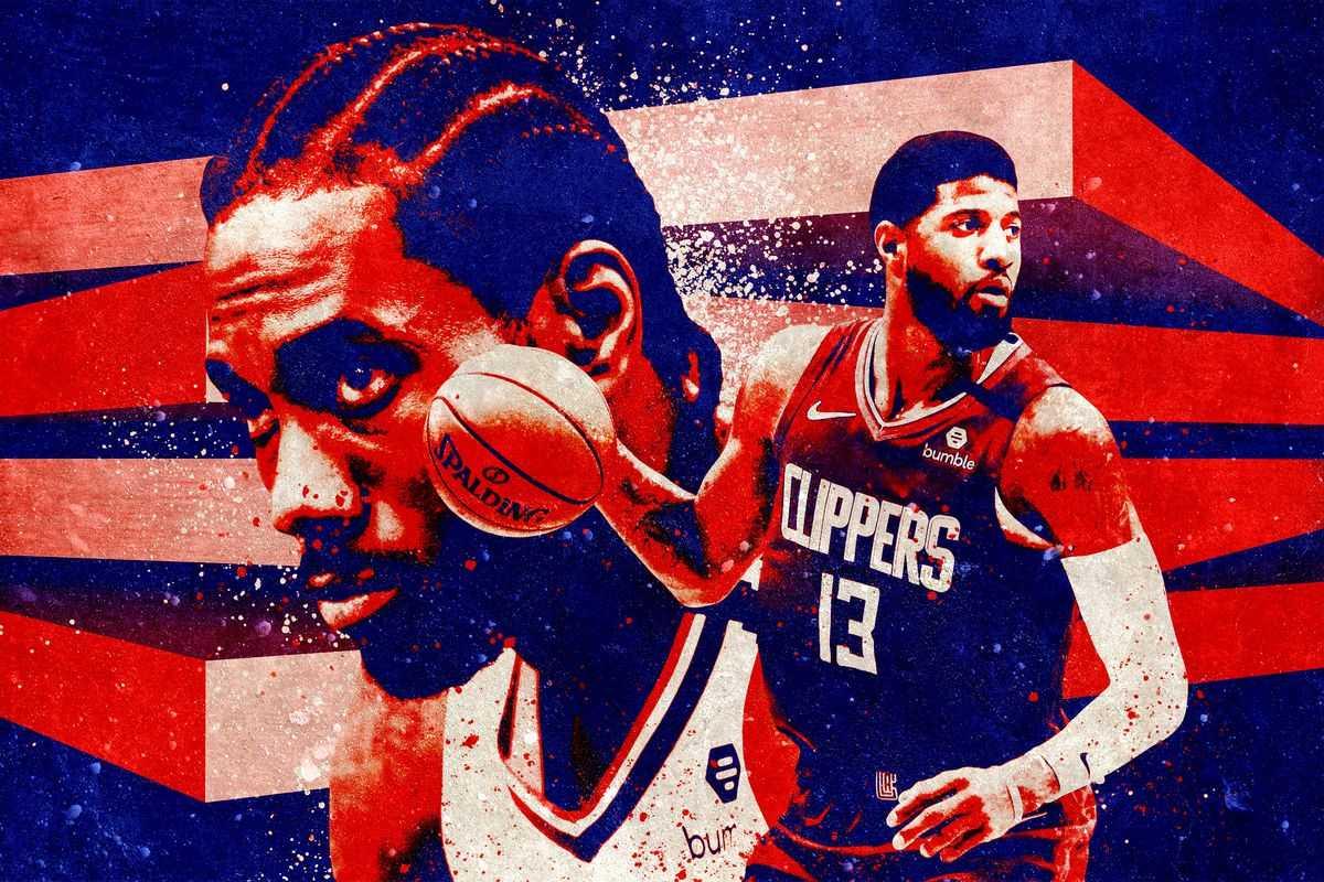 LA Clippers Kawhi Leonard and Paul George art