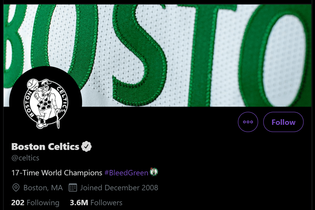 The Boston Celtics returning to #BleedGreen is great for Official NBA Twitter Hashtags