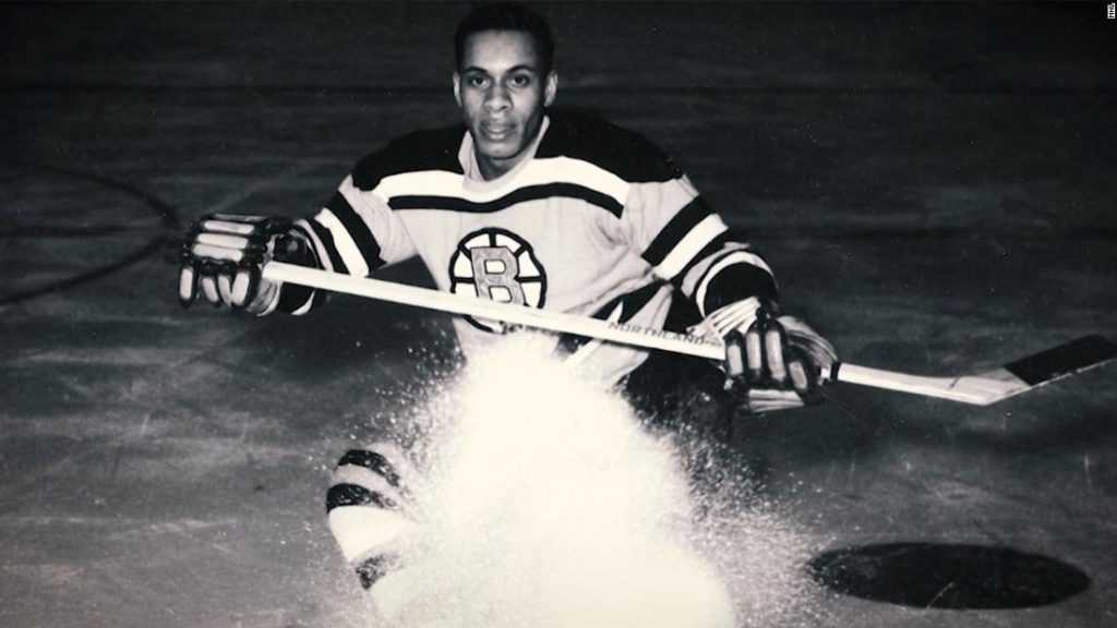 Willie O'Ree on the Bruins