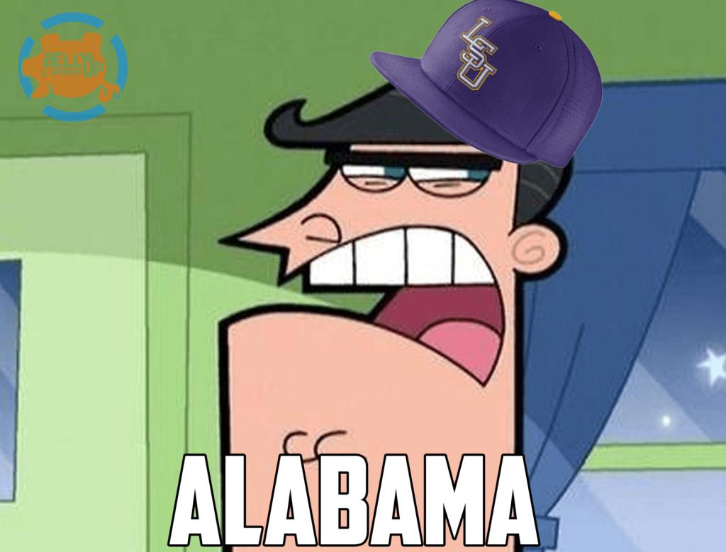 LSU thinking about Alabama