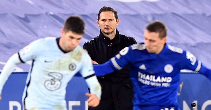 Frank Lampard looks on during a match