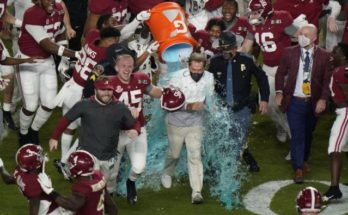 Alabama celebrating the National Championship
