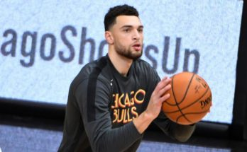Zach LaVine warming up before a game