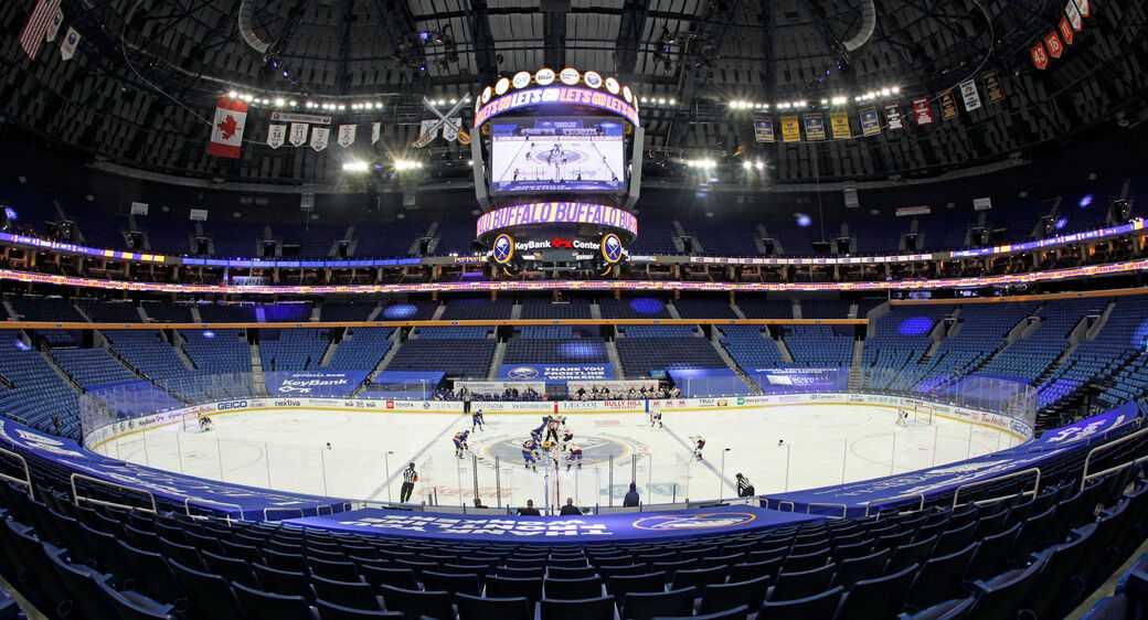 Washington opened their season in the empty Sabres arena.