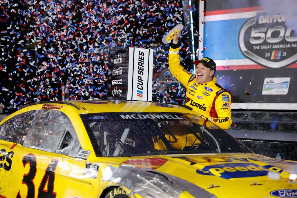 Michael McDowell gets his first career win at the 2021 Daytona 500!