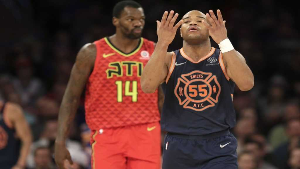 Jarrett Jack during his short stint with the Knicks.