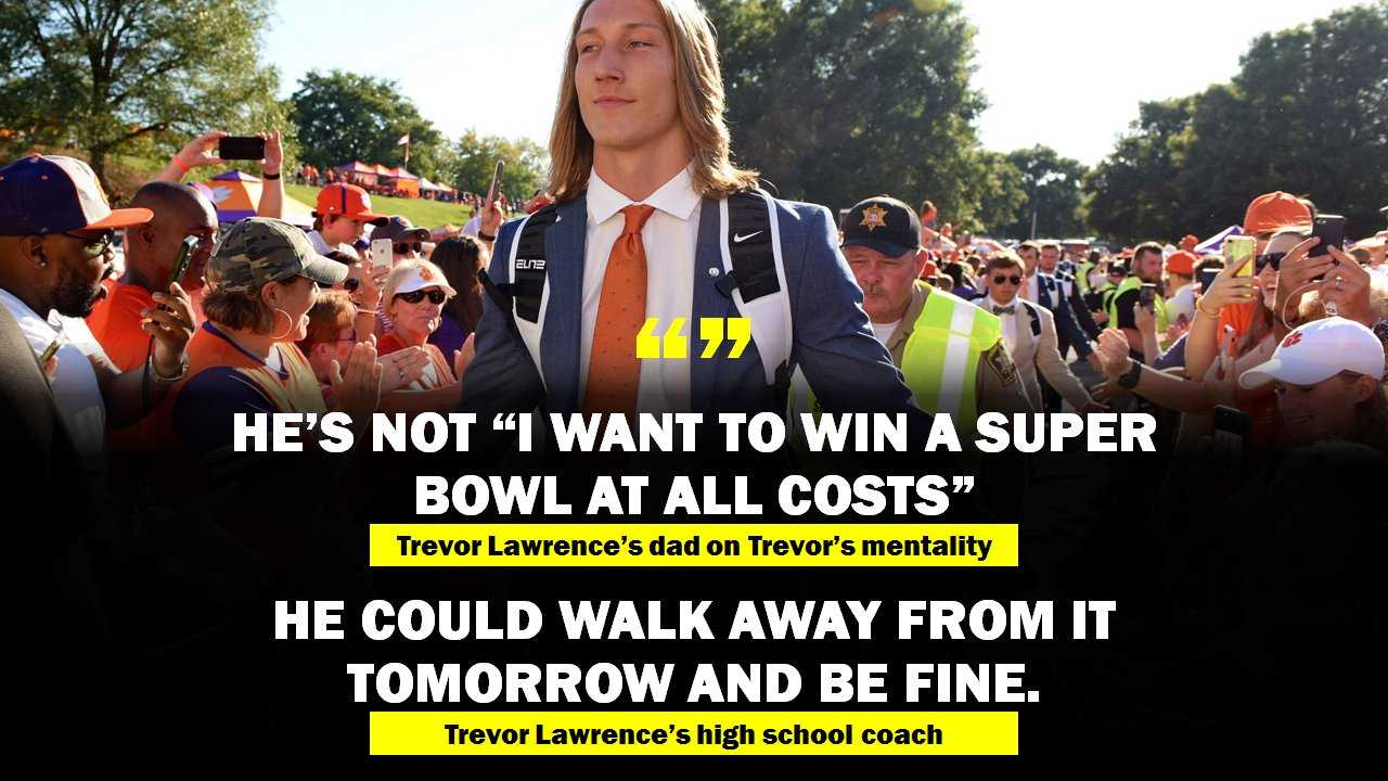 Quotes from the former coach and father or Trevor Lawrence