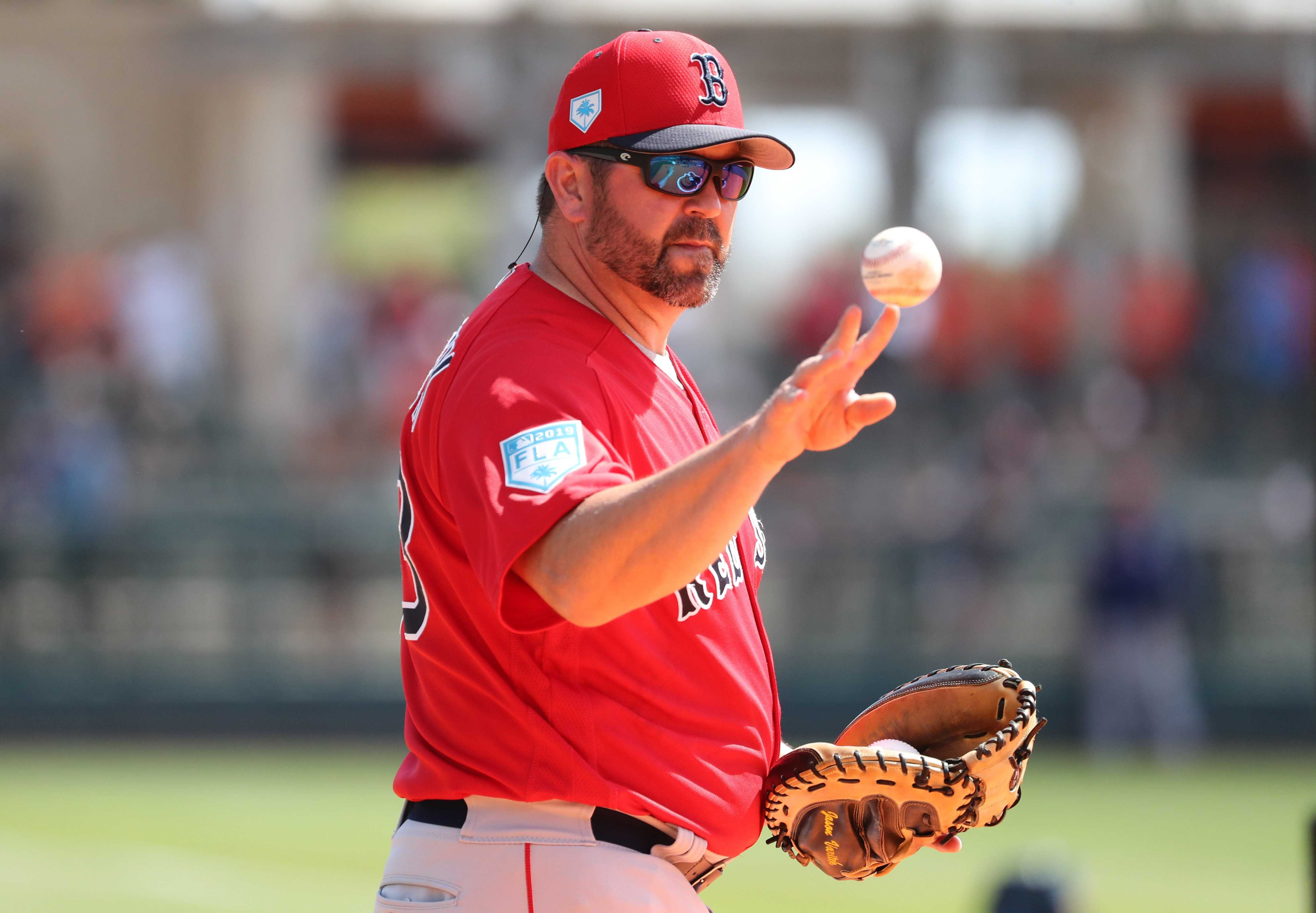 Jason Varitek, now a coach for the Red Sox could one day be manager.