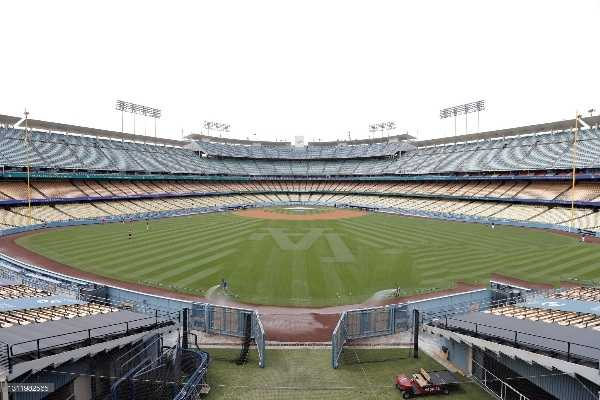 Dodger Stadium, home to the LA Dodgers (Photo by Michael Owens/Getty Images)