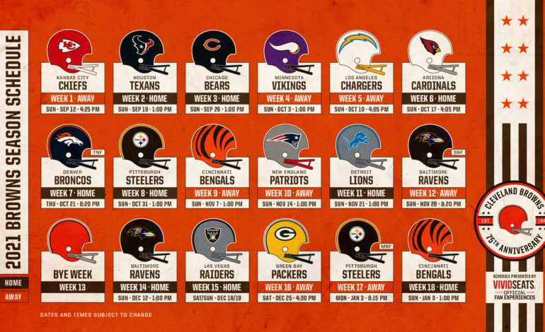 The Cleveland Browns 2021 Schedule is Finally Here