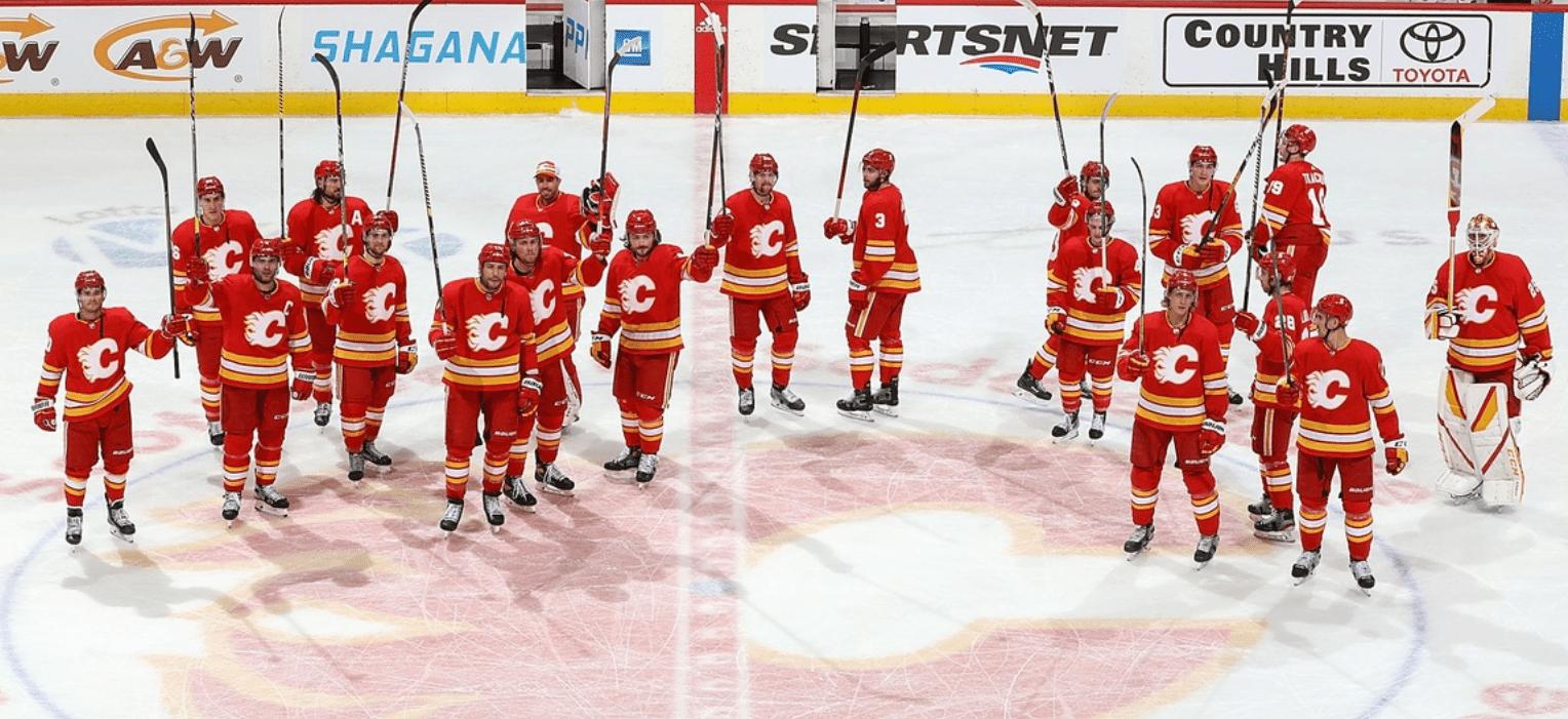 Calgary Flames salute