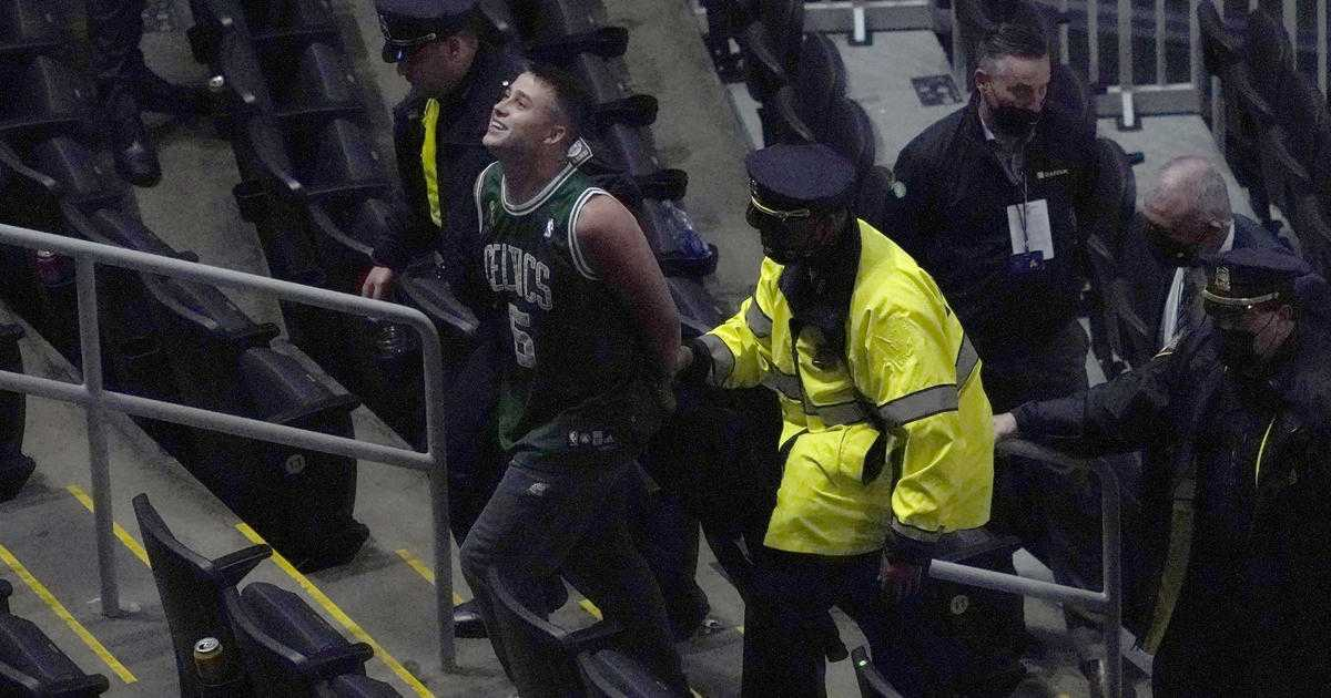 NBA fan arrested and banned for life