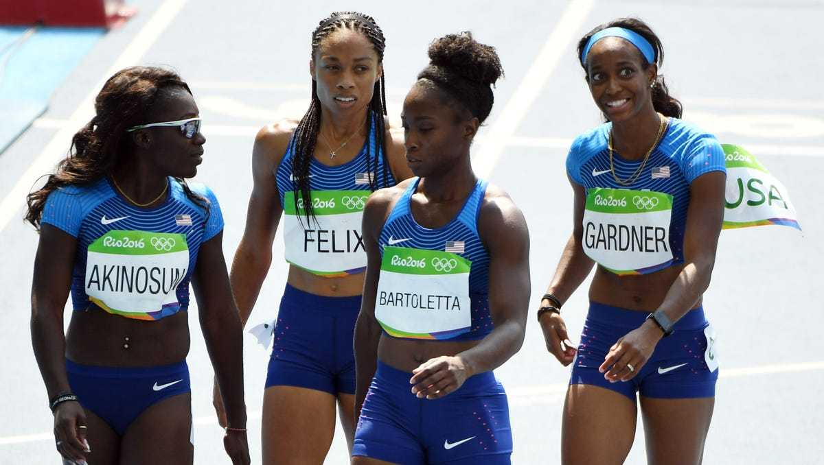 Team USA Track and Field Olympic 4x100m Relay