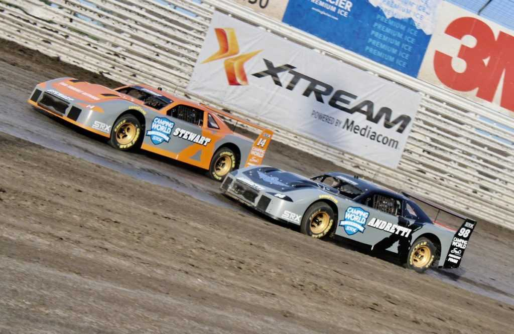 SRX Race Three Preview, Marco Andretti racing Tony Stewart at Knoxville.