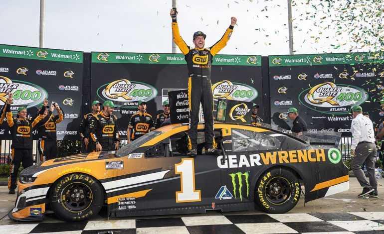 NASCAR at Atlanta Recap: Busch Brothers Battle for Win