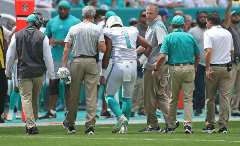 Dolphins QB Tua Tagovailoa injured